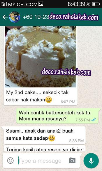testimonial kelas kek butterscotch
