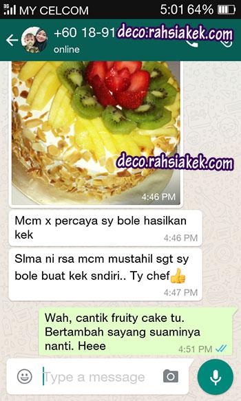 testimonial kelas kek frutiy cake