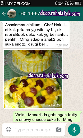 testimonial kelas kek buah buahan