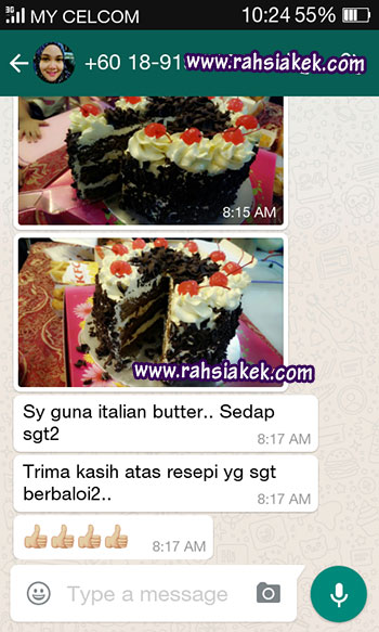 Testimonial Kelas Kek Buttercream
