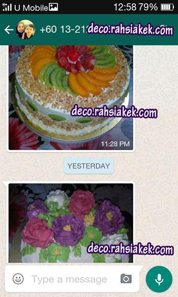 Testimonial kelas kek fruity cake