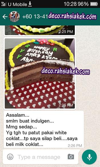 Testimonial Kelas Kek Indulgency Cake