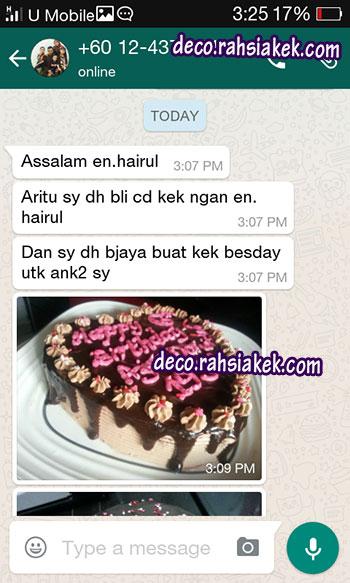 Testimonial Kelas Kek Coklat
