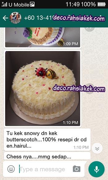 testimonial kelas kek hari lahir